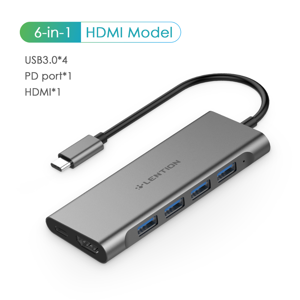4-in-1 Type C to 3* USB 3.0 HUB PD Charging Adapter for MacBook Pro Air 13//15