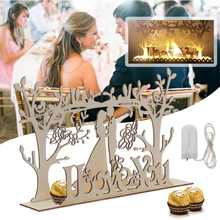 Table-Decoration Chocolate Candy-Holder Wedding-Guest Cabinet 30X20X5CM Led