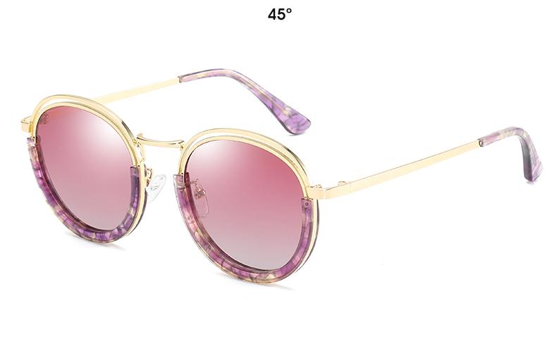 Sunglasses Women Vintage Round Sun Glasses Polarized Lens UV400 Anti Reflective Summer Polarized Women Snnglasses (29)