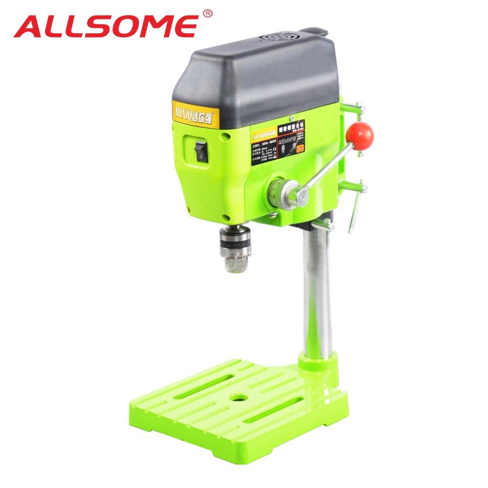 ALLSOME высокоскоростная скамейка сверлильный пресс 480 Вт станок патрон 1 10 мм для DIY