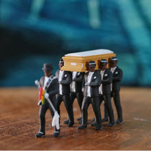 Coffin Dance Ghana Dancing Pallbearers Action Figure Funeral Dancing Team Display Funny Model Hot Sale Toys Collection(Китай)