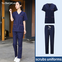Suits Pet-Costume Work-Uniforms Beauty-Salon Women New Shirt Health-Services Short-Sleeved