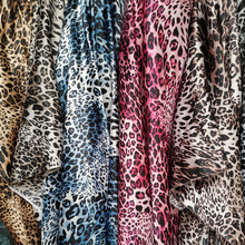 Fabric Sewing Craft-Material Leopard Satin Silky Ombre