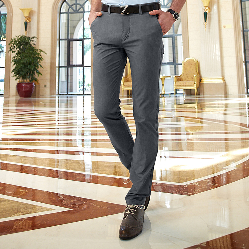 2020 Spring Summer New Classic Straight Men's Casual Chino Pants Slim Fit Long Trousers title=