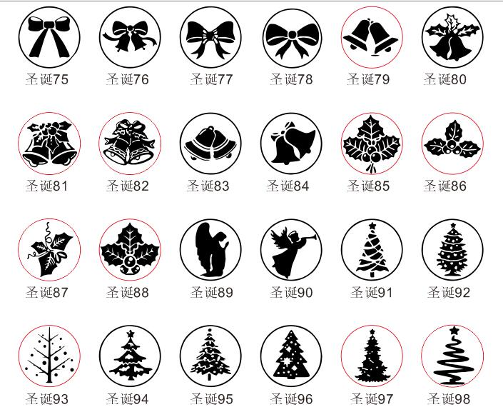 T1612 Santa Claus on Deer Sled Christmas Tree Gift Gloves Silicone Stamps for Card Making and Scrapbooking Snowflake Nole Letters Clear Rubber Stamps