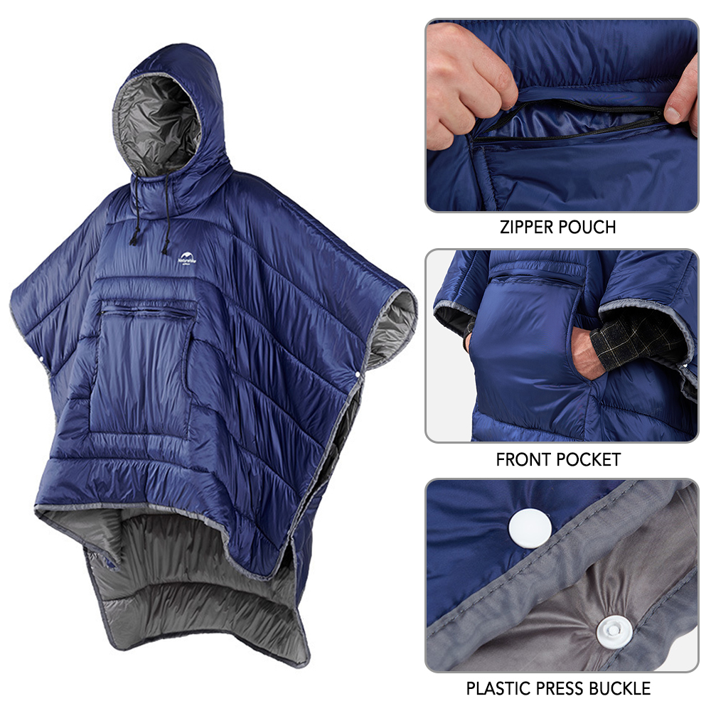 Waterproof Sleeping Bag Cloak Winter Warm Camp Honcho Poncho Lazy Quilt Blanket