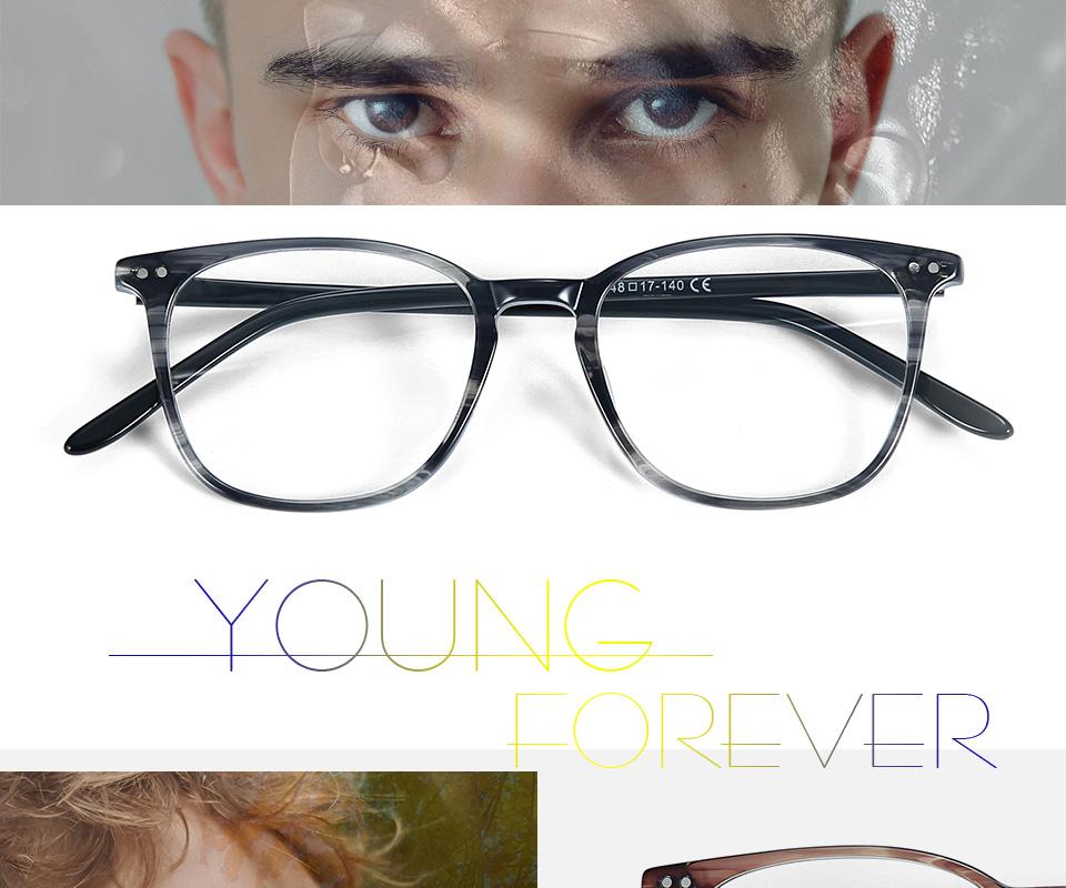 ZENOTTIC Transparent Glasses Frame Men Prescription Glasses Lenses Acetate Glasses Man Frames Optical Myopia Eyeglasses (1)