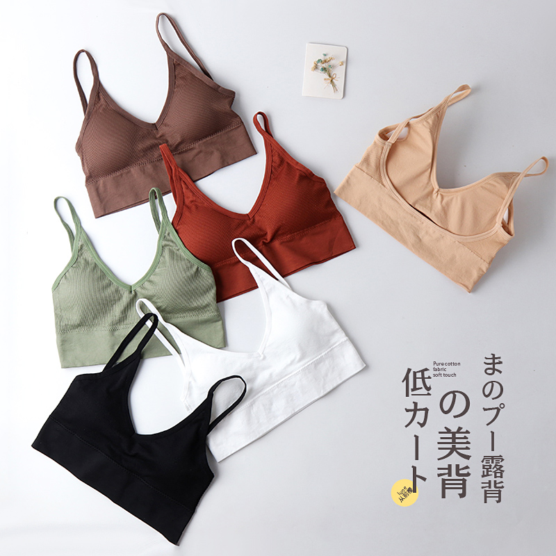 2020 Sexy New Women Push Up Bra Bras Fitness Tops Brassiere Bralette Female Tube Top Underwear Ladies Padded Bra White Lingerie