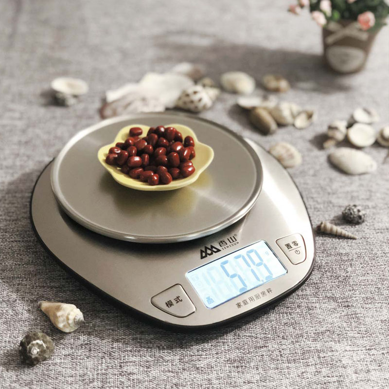 New Xiaomi Mijia Xiangshan Electronic Kitchen Scale EK518 Silver Accurate Weighing Stainless Steel Scale High Precision Sensing