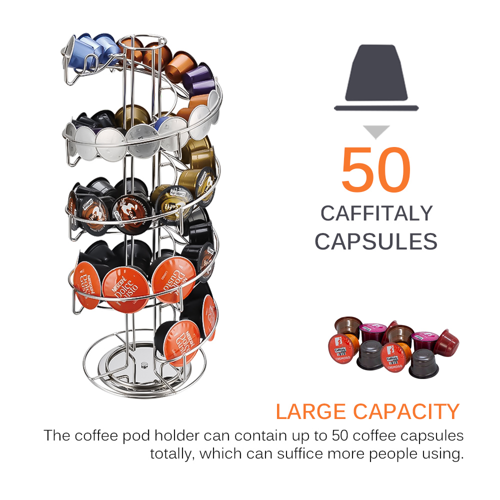 Capsule-Holder Coffee-Dispensing-Tower Stainless-Steel Gusto/k-Cups Creative  title=