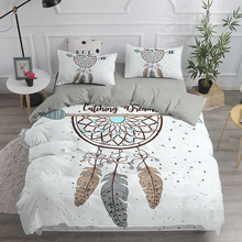Pillowcase Bedspread Bed-Sets Duvet-Cover 3D King-Size Dream-Catcher Queen Custom Bohemian-Style