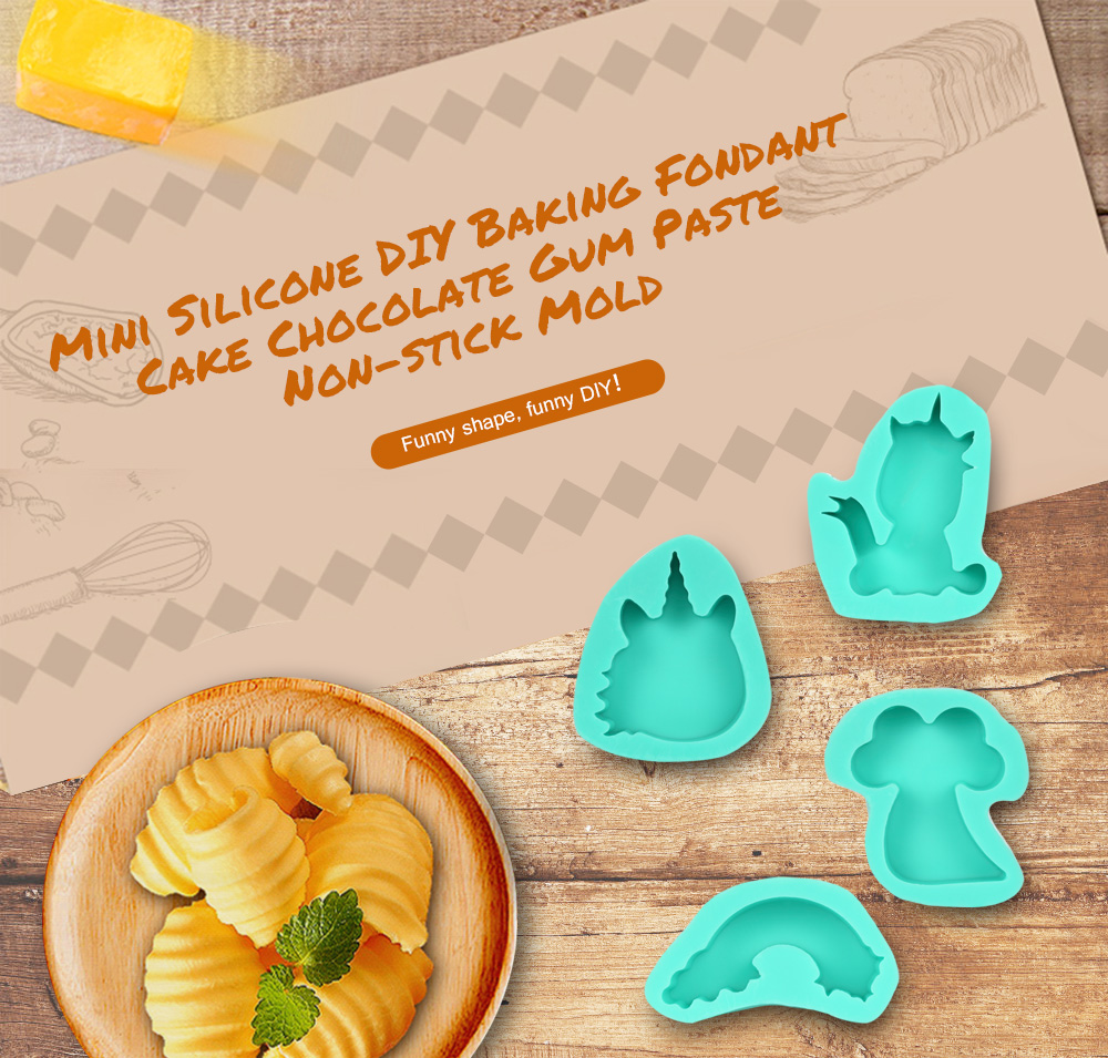Mini Silicone DIY Baking Fondant Cake Chocolate Gum Paste Non-stick Mold