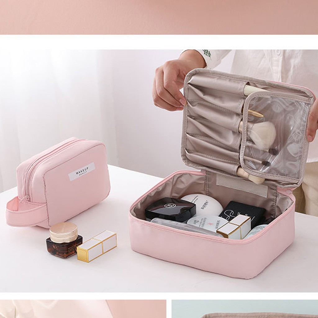 Organizer Storage-Bag Square Travel Women's Portable Solid title=