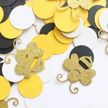 Birthday-Table-Decorations Bumblebee Baby Shower Confetti Diy-Supplies Candy Favor-Box