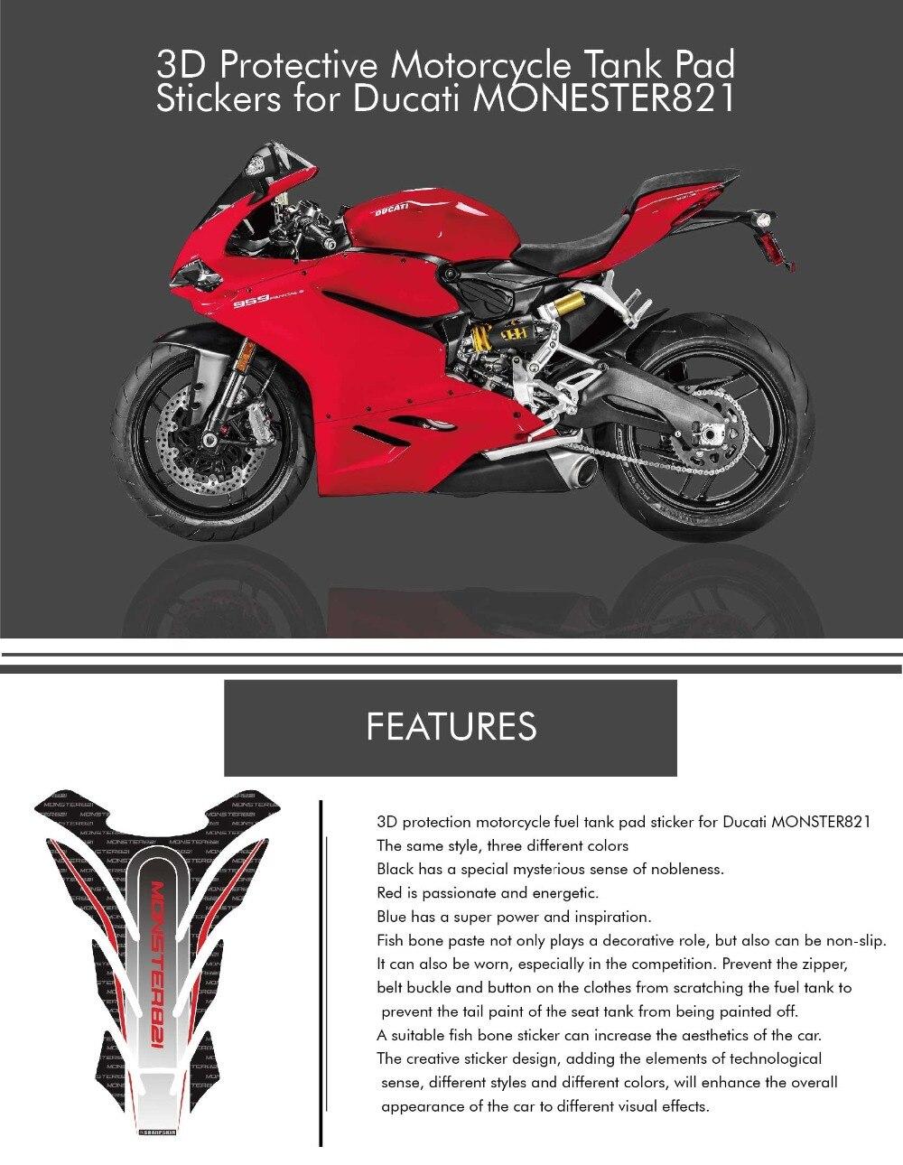 Color : Black Pegatinas de Motocicleta Coj/ín de Cubierta de la Motocicleta 3D de Espina de Pescado del dep/ósito de Combustible Tapa del Tanque for Yamaha R1 r1