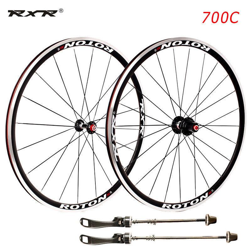Road Bike 700C Bearing Wheels 7-11 Speed V Brake Clincher Front Rear Wheelsets fit 7-11S Cassette (1)