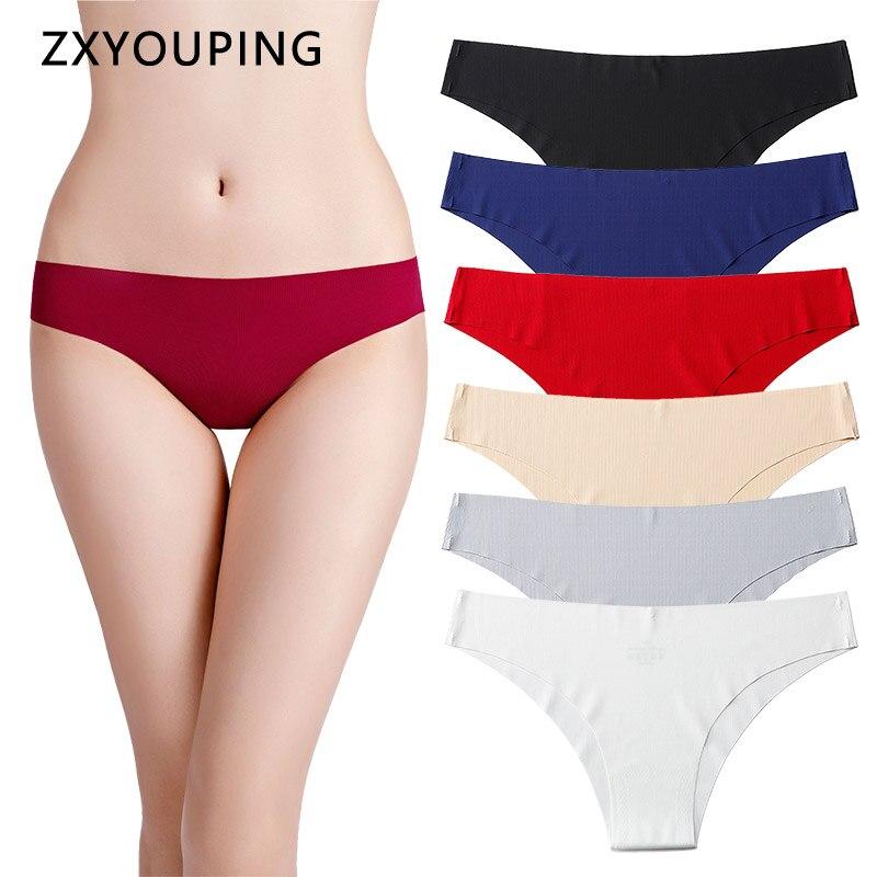 Ladies Panties Underwear Underpants Soft Panties Low Waist Underwear Solid
