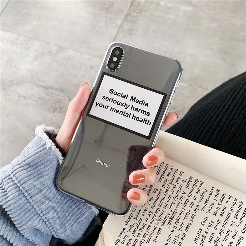 Hot-Social-Media-seriously-harms-your-mental-health-Soft-Phone-Case-For-iphone-11-XS-Pro