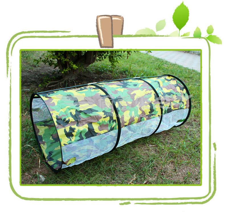 3 in 1 Camouflage Outdoor Playhouse Tunnel Tent for Baby Children Waterproof Two Rooms Tunnel Tents 2307085cm Kids' Gift Toys (1)