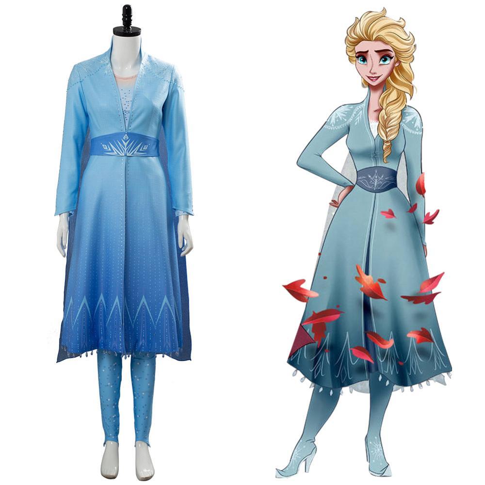 Olaf/'s Frozen Adventure Queen Elsa Cosplay Fancy Dress Adult Woman Costume Party