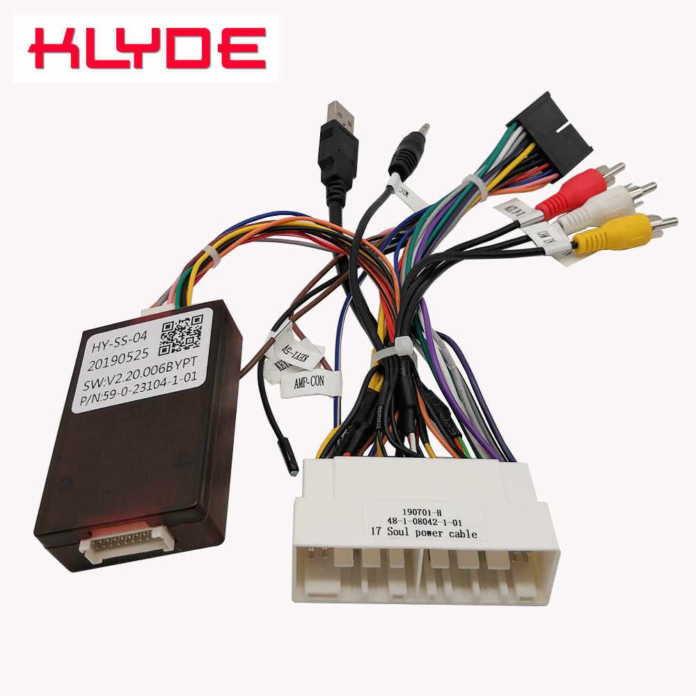 KLYDE Canbus Decoder Power Adapter Cable Harness for KIA Soul K5/Hyundai on kia soul subwoofer, 08 sportage radio wiring, 2005 sorento radio wiring, 2011 kia sportage stereo wiring, 8 speaker system wiring, kia soul wiring diagrams, 2002 kia rio stereo wiring,