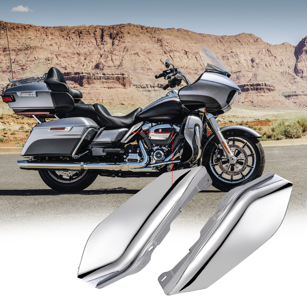 Motorcycle Stainless Steel Deep Cut Slotted Windshield Trim For Harley Davidson Touring FLHT FLHX 2014-2016
