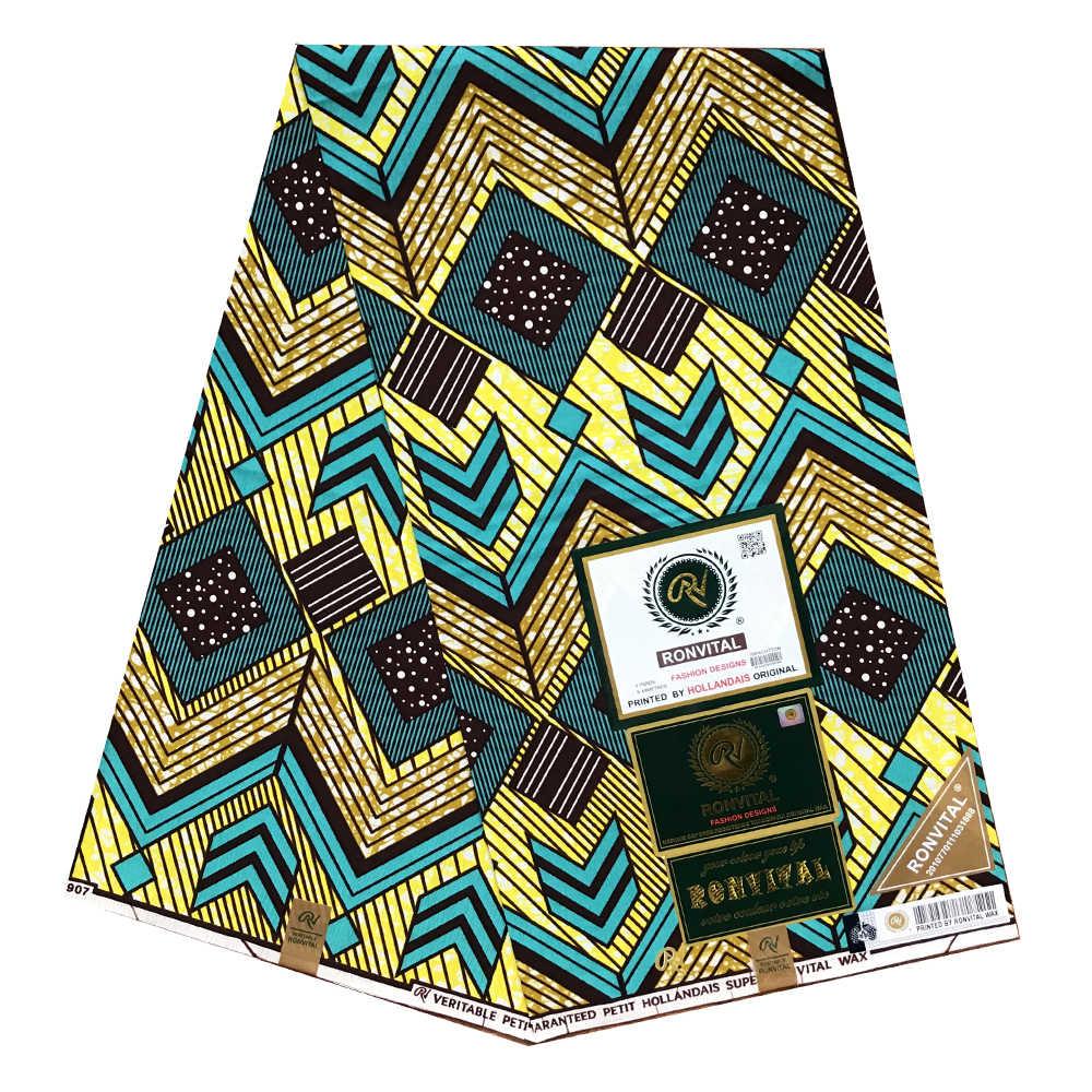 African Latest 100/% Cotton Fabric Dutch Wax African Super Wax Ankara Print Fabric 6 Yards One Piece 24FS1115