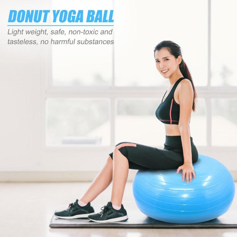 Yoga Ball Donut Trainer Exercise Stable Yoga Ball Fitness Equipment for Gym