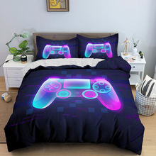 3D Fashion Gamer Duvet Cover Cartoon Bedding Sets Kids Boys Girls Bed Set Game 2/3 Pcs Quilt Comforter Covers King Queen Single