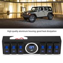 6 рокер источник системы реле Pod панель управления кронштейн W Blade FuseRelay для Jeep Wrangler JK JKU 07-18(China)