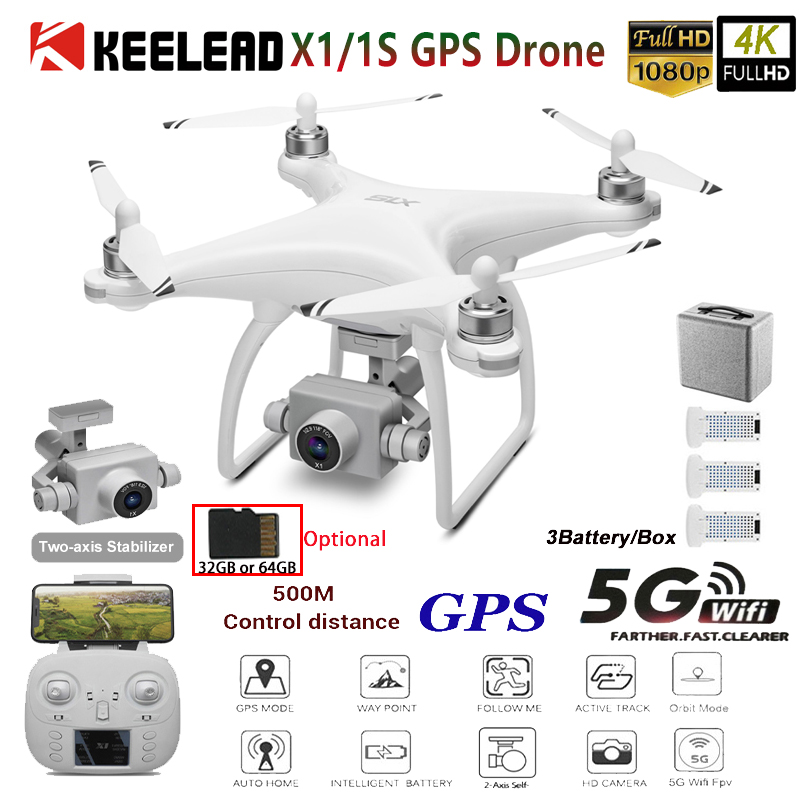 Quadcopter Camera Stabilizer Gimbal Gps Drone Drone-Profissional VS 5G 1080P Two-Axis title=