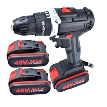 Wrench Electric-Drill-Set Cordless-Screwdriver Lithium-Battery 48VF Wireless Home