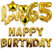 Foil Balloons Party-Decorations Happy-Birthday 50 Deco-Set Anniversary Adult 35 18 20-21-25-30