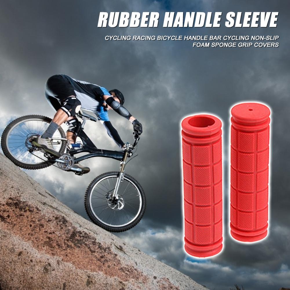 2x Rubber MTB Road Bike Handlebar Grips Anti-Skid Fixed Gear Bicycle Grips Set