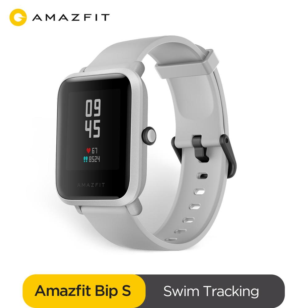 In stock Amazfit Bip S Global Version Smartwatch 5ATM GPS GLONASS Bluetooth Smart Watch for android iOS Phone