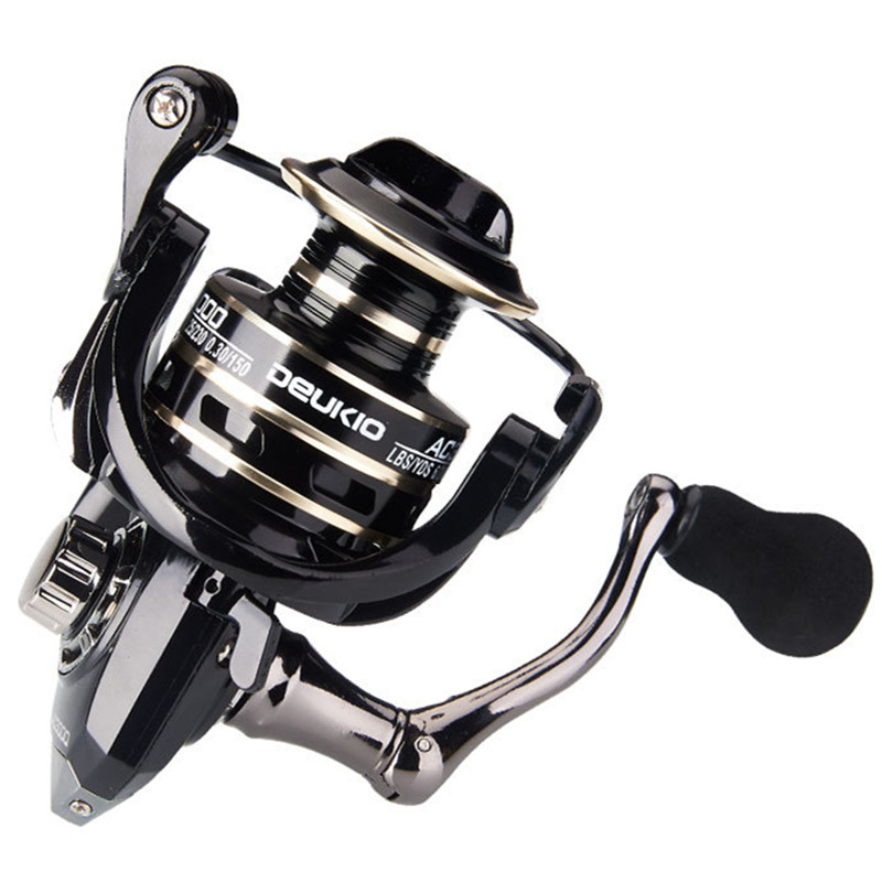 Super Fishing Reel Full Metal Spool Metal handle 5.2:1 High Speed Spinning Reel Carp Fishing Reels For Saltwater title=