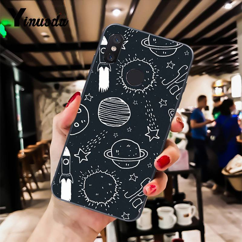 black with white moon stars space astronaut