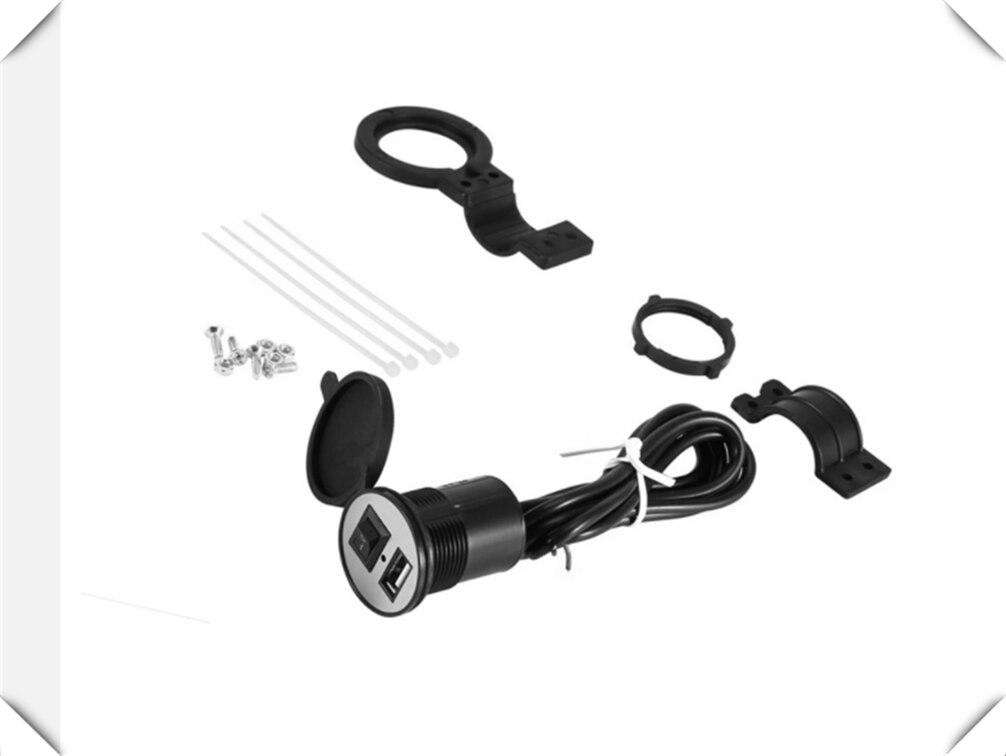 Universal motorcycle modified mobile phone USB charger with switch for SUZUKI GSR600 GSR750 GSX-S750 GSXR1000 GSXR600 GSXR750