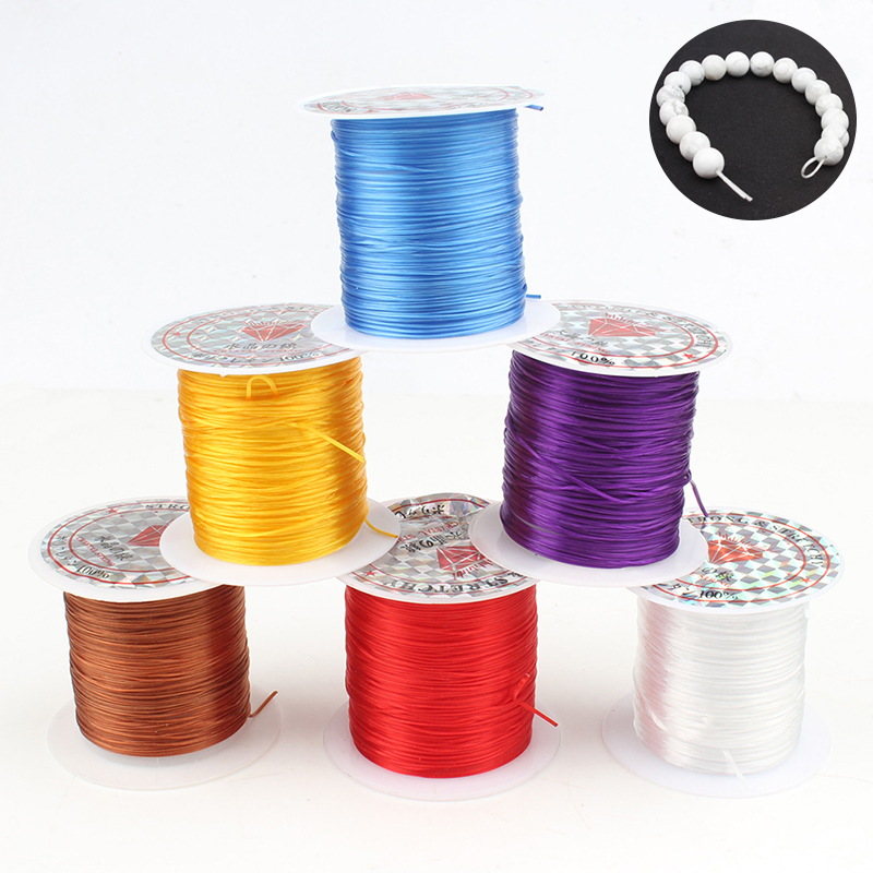0.8mm 1mm Strong /& Stretchy Crystal Elastic Beading Cord 0.6mm