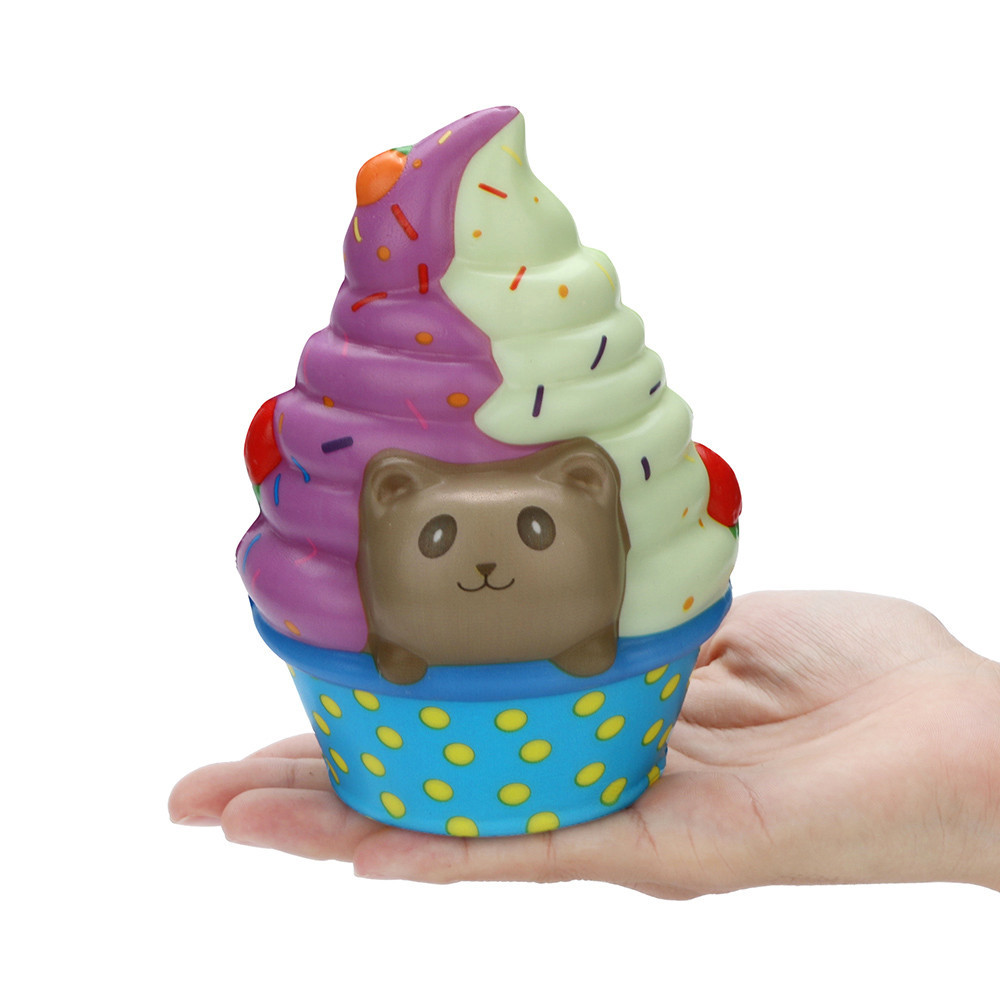 Kawaii Panda Ice Cream Slow Rising Stress Relief Toys Cake shop model Decoration Cartoon Relieve Stress Toy #B