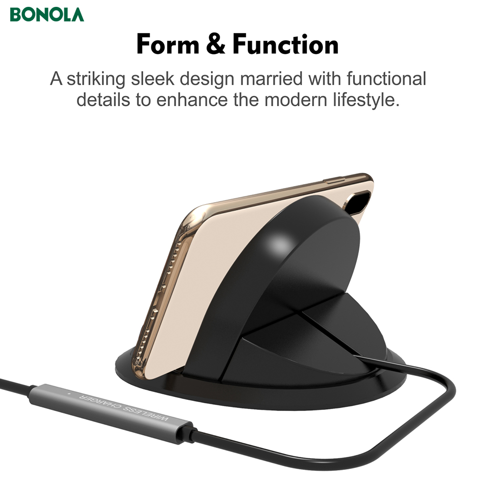Bonola Fast Wireless Car Charger For iPhone11proXs Coil And PBC Motherboard Separate 10W Qi Car Phone Holder Wireless Charger  (3)