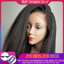 360 Lace Frontal Wig Kinky Straight Lace Wig Brazilian Human Hair Wigs 150% Density Remy Lace Frontal Human Hair Wigs For Women