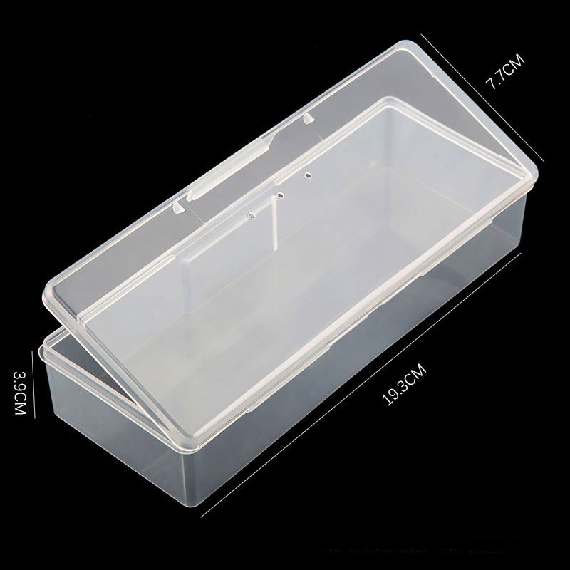 Twin Well Empty Grids Portable Storage Case Wipe Pads Cotton Swab Rods Makeup Tools Container