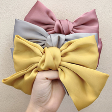 Hairpin Hair-Accessories Spring Horizontal-Clip Satin Big-Bow Chiffon Girls Women Sweet