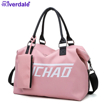 Travel-Bag Organizer Cubes Women Luggage Nylon Pink Large New-Fashion Man for Gym Shoulder-Bags