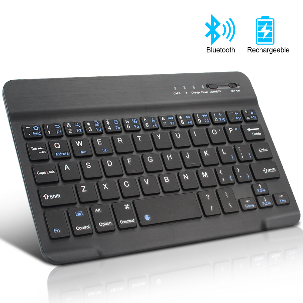 Wireless Keyboard Phone Support iPad Apple Mac Android-Windows Universal Mini Tablet title=