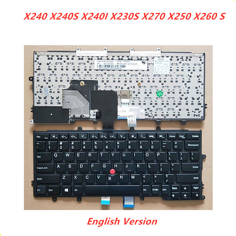 New Laptop Replacement Keyboard for Lenovo ThinkPad X230S X240 X240S X250 X260 X270 04Y0938 04X2013 US Layout with Backlight