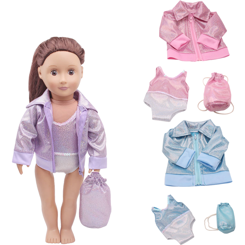Purple fit 18 inch American Girl Doll Clothes Headband Set of 3 Pink White