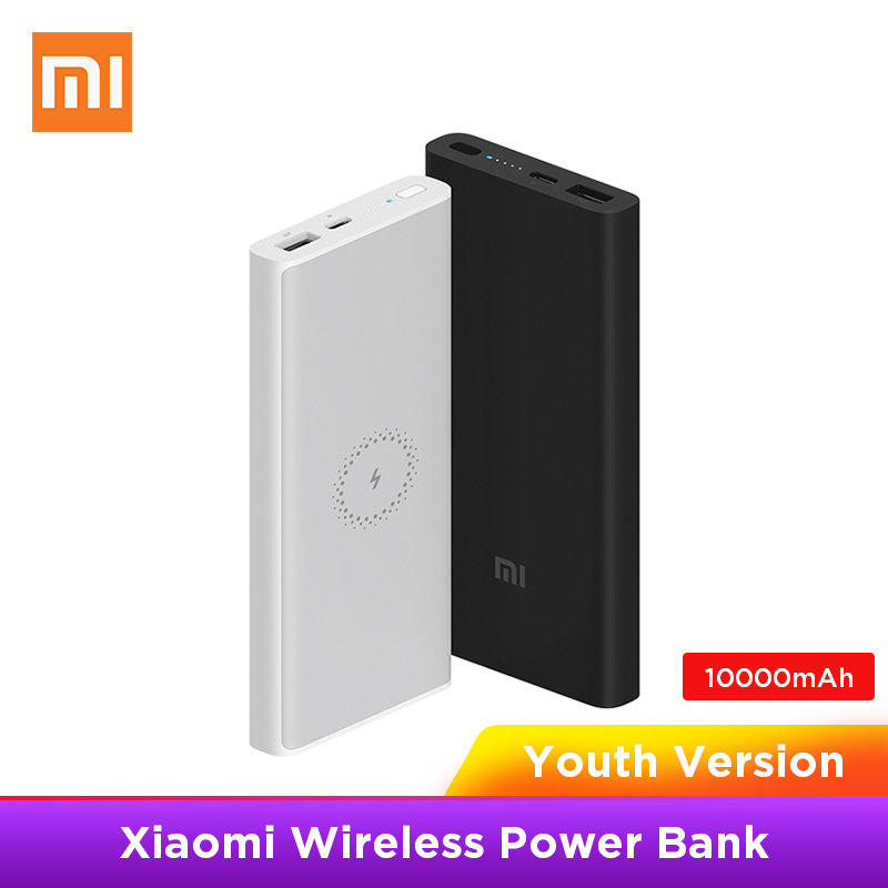 Xiaomi Power-Bank Type-C Wireless-Charger WPB15ZM 10000mah Portable Fast Youth Qi title=