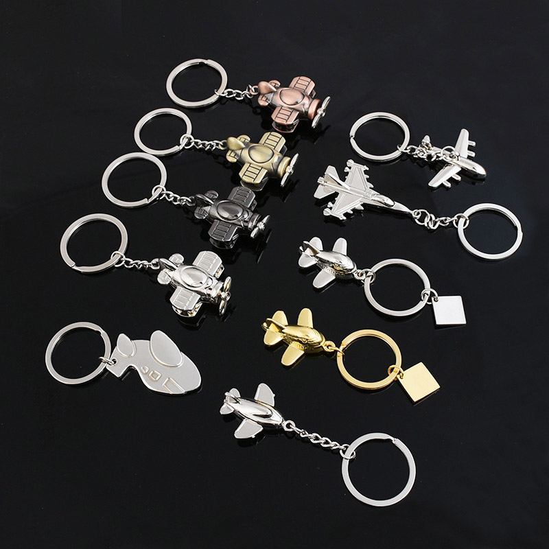 Aircraft-model-Key-Chains-Metal-KeyChain-3D-Airplane-Gift-for-Men-Women